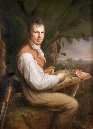 Alexander von Humboldt ägnade en stor del av sitt arbete att dokumentera kolonialismens skadeverkningar i Latinamerika. Porträtt av Friedrich Georg Weitsch från 1806.