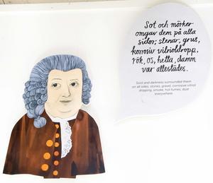 Carl von Linné finns förstås representerad i utställningen.