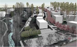 Enligt förslaget ska bostäderna ordnas i småskalig men tät bebyggelse av trädgårdskaraktär. Områdets många träd ska bevaras och området närmast Högbobäcken, som har ett bra bestånd av bäckröding, förblir obebyggt.