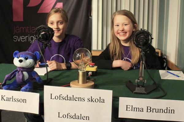 Isacc Karlsson och Elma Brundin från det kombinerade laget Lofsdalen/Ytterhogdal.