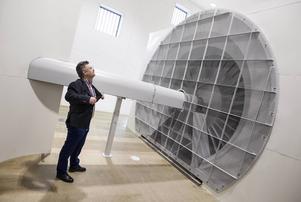 Från invigningen av vindtunneln på Mittuniversitet våren 2015.