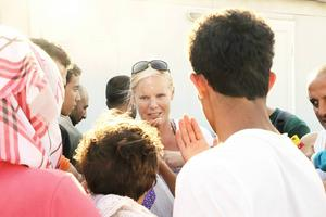 I höstas gjorde Maria Westin flera resor till grekiska ön Samos för att hjälpa flyktingar.