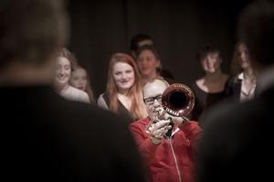 Nils Landgren och hans svagt gyllenröda trombon är ett starkt varumärke.