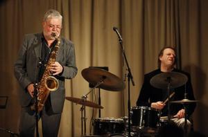 Jesper Thilo och Franz Rifbjerg. Två fjärdedelar av den danska kvartetten som bjöd på en imponerande jazzuppvisning hos Gävle jazzklubb i onsdags kväll.