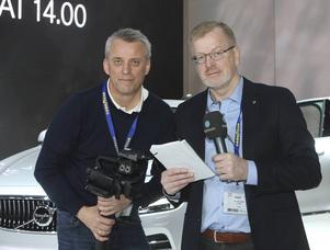 Bylinebild   Mittmedia på Genéve bilsalong   Gunnar Stattin och Ola Thelberg