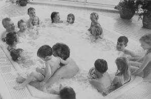 Bubbelpoolen var populär.