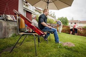 Stefan Langendorf spelade nyckelharpor som tillverkats i Söderhamn, av hans far.