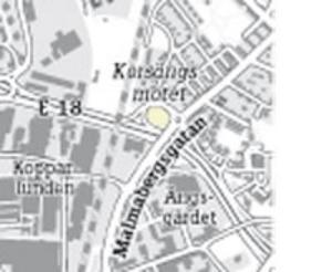 Karta över Korsängsmotet.