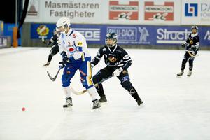 Andreas Ljus från Ljusdal gjorde sin första match i Falu BS mot HaparandaTornio.