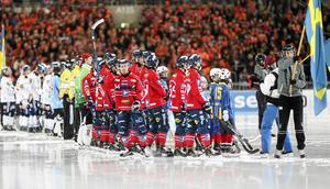 Daniel Välitalo under SM-finalen mot Bollnäs på Tele2 Arena.