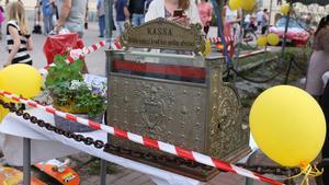 Denna gamla kassaapparat var uppställd där fikat serverades.