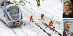 Vinterns tågproblem har fått infrastrukturminister Åsa Torstensson (C) och språkröret Peter Eriksson (MP) att bekänna färg.