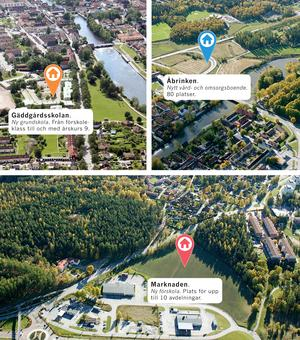 Tre stora satsningar väntar i Arboga i framtiden när en ny grundskola, förskola och vård- och omsorgsboende ska byggas.