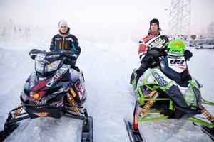 Marcus Ogemar-Hellgren, Östersund och Johan Eriksson, Team Walles, höll länets fana högt i Umeå.Arkivbild