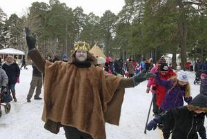 Vinterfestival i Boulognerskogen i fjol med Kung Bore i egen hög person.
