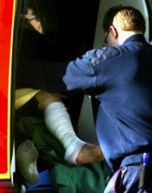 Thermolbranden orsakade brännskador på en 52-årig man.