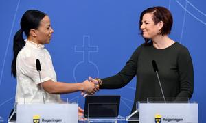 Anna Carlstedt (th) ny nationell samordnare mot våldsbejakande extremism.