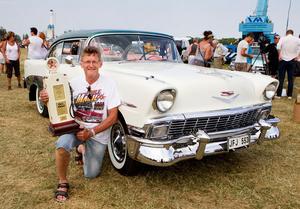 Håkan Pettersson från Västerås och hans Chevrolet från 1956 vann i den hårda konkurrensen om att bli läsarnas vinnarbil.