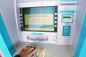 Bankomat plockar ner sin uttagsautomat i Funäsdalen.