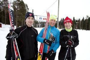 Det svåraste i Stafettvasan är att få biltransporten att fungera smidigt, tycker Pär Nilsen, Patrik Hadin och Annika Jonsson.