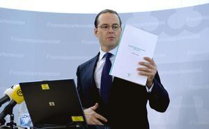 På tisdagsförmiddagen presenterade finansminister Anders Borg budgeten vid en presskonferens på Finansdepartementet i Stockholm.