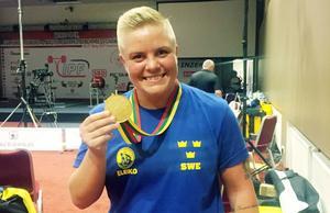 Arkivbild: Sofie Josefsson, världsmästare i bänkpress i Litauen.