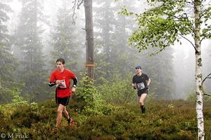 """Niklas Gunne och Josef Snellman kom på första respektive andra plats i loppet """"Silverleden runt på 1 dag"""" förra året. Foto: Privat"""