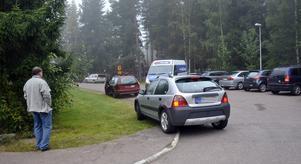 Den här bilden av trafiksituationen tog Trafikutskottets Ronny Beyer utanför Fabian på tisdagsmorgonen