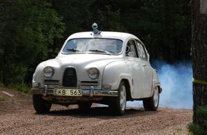 Här en bålgeting till Saab med efterföljande blårök.