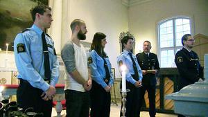 Daniel Sjölund, Martin Larsson, Elin Eriksson och Marie Brodin fick alla hederomnämnande för goda insatser i samband med ett brutalt misshandelsfall.