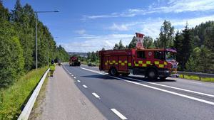 E4 i Örnsköldsvik fick stängas av under en timme vid lunchtid på måndagen.