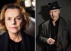 Marie Göranzon och Mikael Persbrandt är båda aktuella med böcker om sina liv. Bild: TT