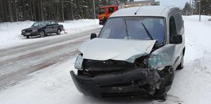En trafikolycka inträffade i Fåker på måndagen.