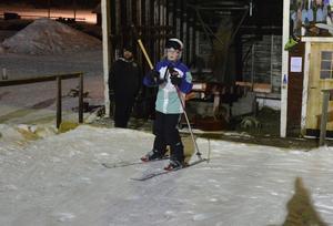 Malin Jonsson var en av många som passade på att åka skidor.