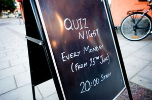 Quiz har varit måndagarnas stående inslag på The bell.