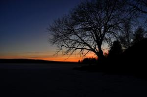 Solnedgång över indalsälven (Stugun)