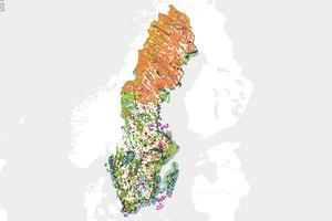 Det finns många riksintressen av olika slag över hela Sverige.