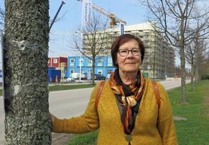 Viksängsbon Marianne Pettersson hade gärna sett att träden vid Öster Mälarstrands allé hade fått vara kvar. Med det är förståeligt att de är i vägen för bostadsbyggandet, menar hon.