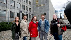 Marie Energård, Kommunal, Anna Fridh, Ruut Trehag hemtjänsten, Nicklas Gustafsson, Kommunal, och Niklas Andersson, hemtjänsten Proaros.