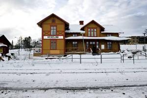 Ockelbo station i dag.
