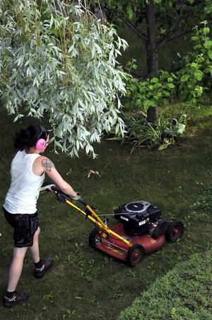 Motorgräsklipparen syns fortfarande i mängder av trädgårdar runtom i landet, men numera finns det prisvärda alternativ om är både miljövänligare och tystare.    Foto: Hasse Holmberg/TT