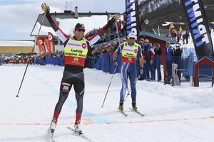 Ludvig Jensen har världsrekordet på 100 meter supersprint. Här slog han Petter Northug på distansen i Ramundberget 2014. Blir det en repris av den finalen i år?