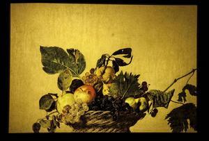 Caravaggio är känd för att ha målat några av de första verkliga stillebenmålningarna. En av dem är