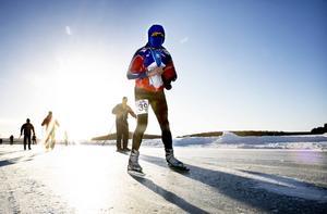 Thomas Eriksson var en av omkring 200 personer som ställde upp i motionsloppet, Runnskrinnet.