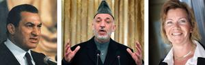 Värre, värst? Folket tvingade bort Mubarak, men andra arabiska diktatorer sitter kvar, med USA:s stöd. I Afghanistan har USA tillsatt Karzai, en genomkorrupt knarkhandlar. Och i riksdagen lägger Margareta Sandstedt till sju nollor för mycket.