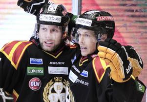 Brynäs ser ut att vara ett avslutat kapitel för Sebastian Lauritzen (höger, bredvid Jonathan Granström).