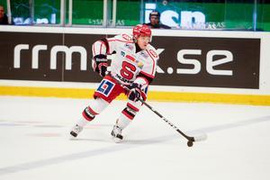 Så här såg det ut senast det begav sig för Andreas Hjelm i SSK, och på onsdag väntas Hjelm spela i SSK-tröjan igen. Bild: Jonas Tetzlaff.