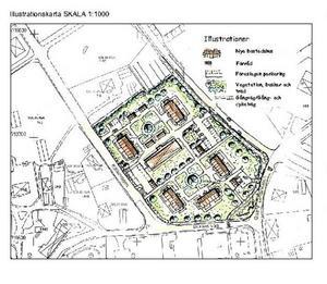 FRAMTIDSVISION. Den här detaljplanen antogs i början på förra året. Enligt planen ska det byggas bostäder i parkområdet bakom Ica-butiken. Men det finns inga konkreta förändringar av Torsåkers centrum inplanerade den närmaste tiden.