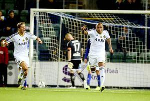 Tommy Naurin kunde inte göra någonting på Alex Silva Pereiras 0–1-mål.