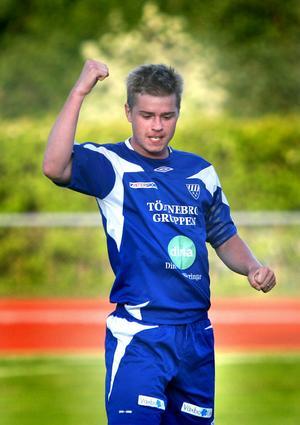 Robin Modd gjorde Rengsjös första mål mot Järbo och spelade fram Jon Pettersson till segermålet.